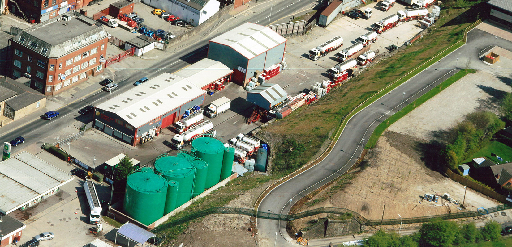 Arial View of Crown Oil