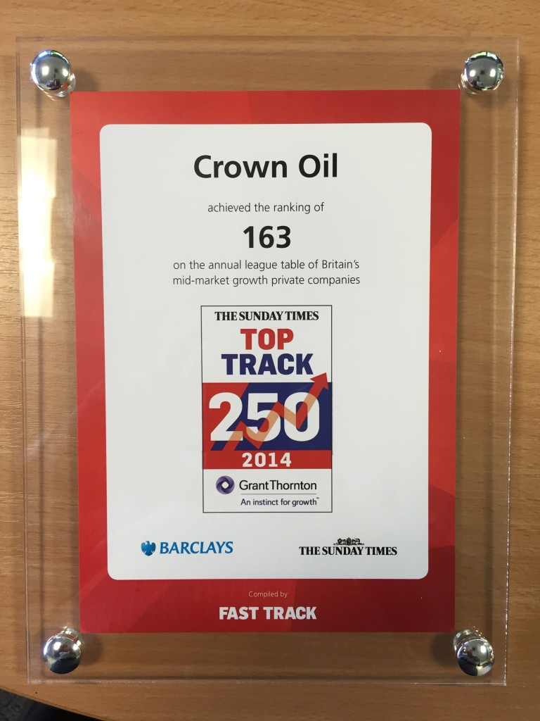 Crown Oil's Award - Top Track 250