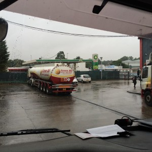 From the fuel tanker cabin - image of the yard