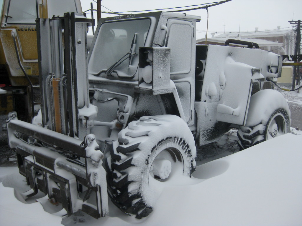 Fork Lift Truck in the Arctic