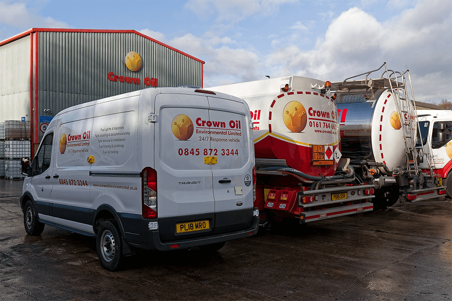 Crown Oil fleet of vehicles for fuel delivery